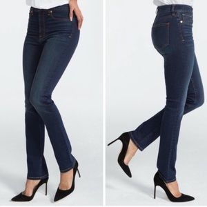 SPANX 5 Pocket Straight High Rise Shaping Jeans 28